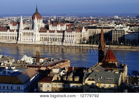 The view on Danube river. Budapest