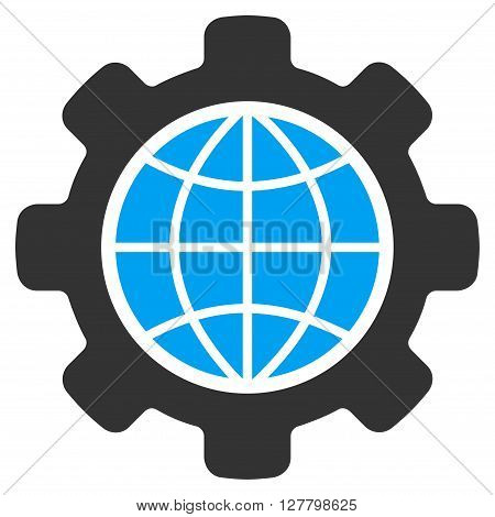 Global Options vector icon. Style is bicolor flat icon symbol, blue and gray colors, white background.