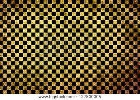 Old Brown Cloth High Contrasted Texture Cross Squares Styled