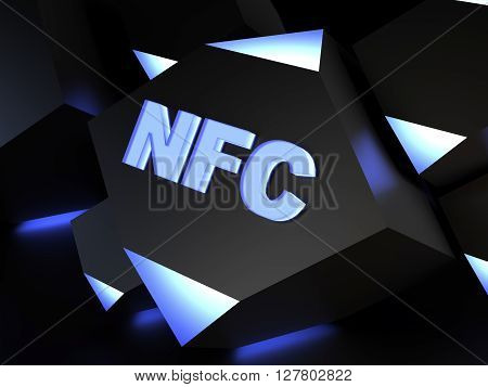 NFC technology sign - computer generated image (3D render)