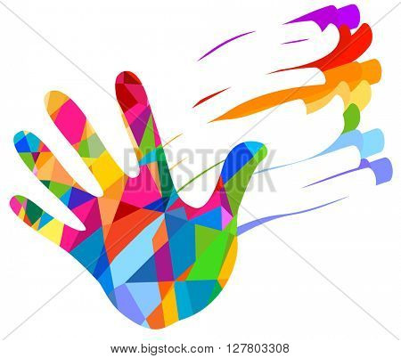 hand colorful illustration background