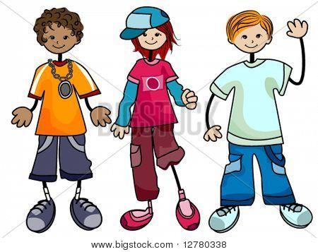 Hip hop Kids - Vector