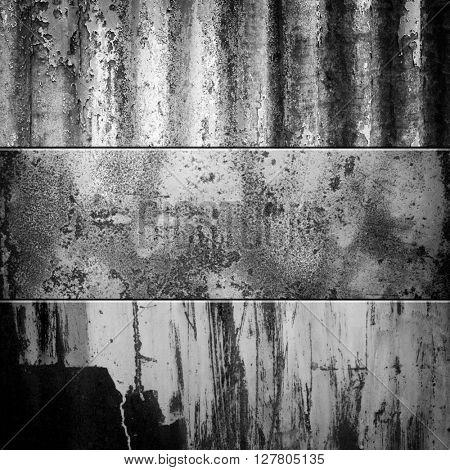 grunge metal fence