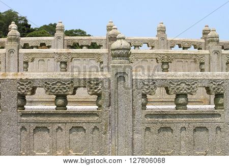 oriental architecture of Po Lin Temple, Hong Kong