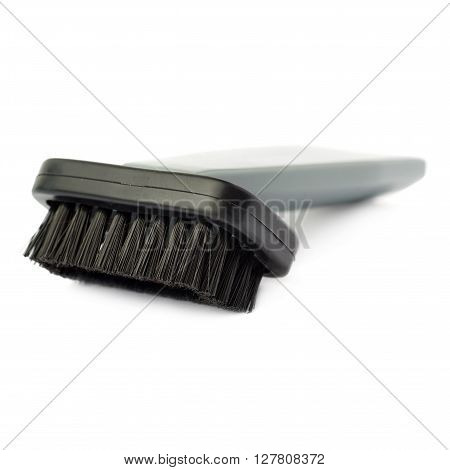 Hand held small vacuum brush head cleaner isolated over the white background