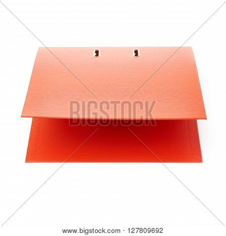 Red Office folder isolated over the white background