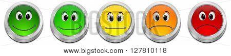 decorative colorful Voting Button - 3D illustration