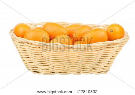 Kumquat Fruits In Basket