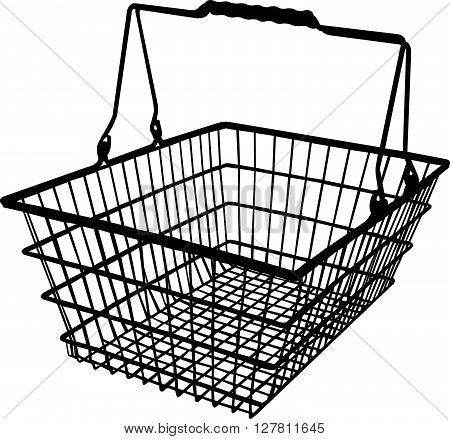 a shopping basket silhouette vector art work