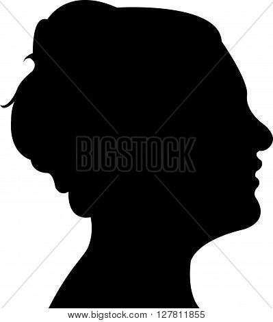 a lady head silhouette vector art work