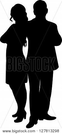 a couple body silhouette vector art work