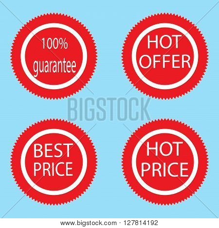 Label sticker best and hot price. Price tag and label price sticker and price icon tag sticker and sale price label. Vector flat design illustration