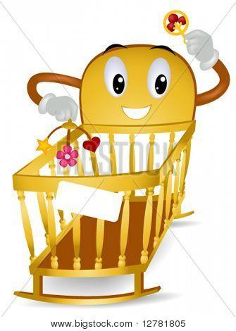 Baby Crib - Vector