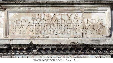 Rome'S Motto - Senatus Populusque Romanus