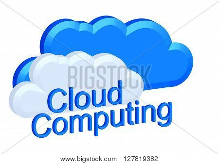 cloud computing concept isolated on white background