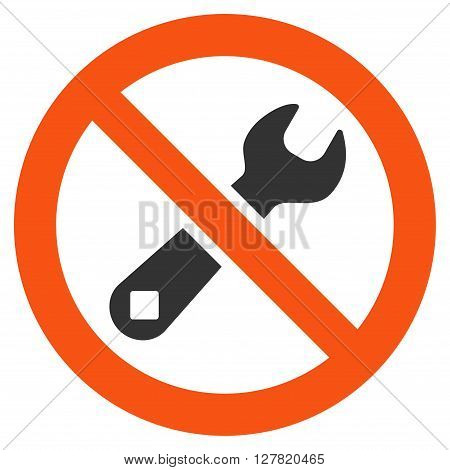 Restricted Repair vector icon. Style is bicolor flat icon symbol, orange and gray colors, white background.