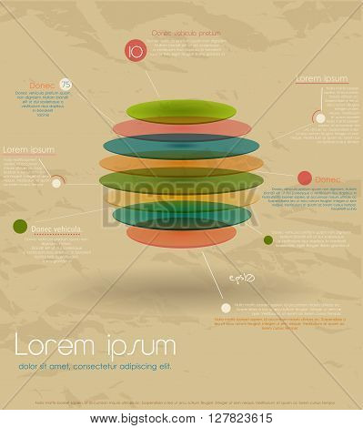 Vintage round infographic template. Vector illustration EPS10