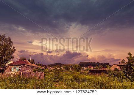 sky above village where he was born Vasily Shukshin