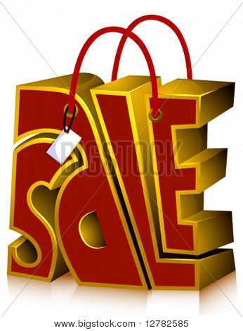 SALE Shopping Bag - Vector