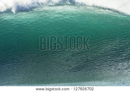 Wave upright wall of  crashing ocean blue water power