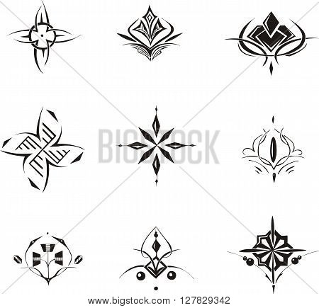 Symmetrical Floral Decorative Dingbats