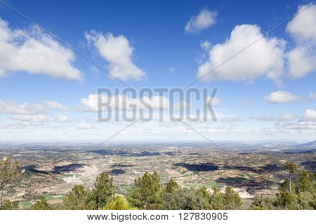 Aereal Matarranya views. Teruel province. Spain. Landscape