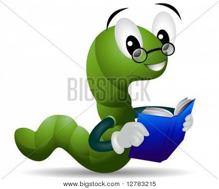 Bookworm - Vector