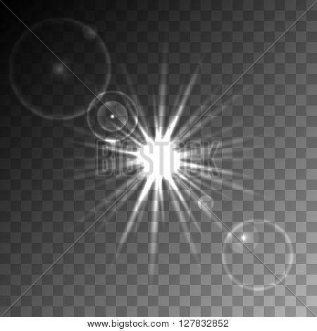 Transparent Lens Flare Vector Element