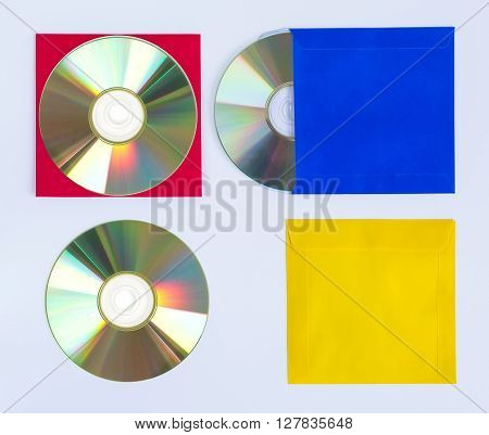 CDs / DVDs isolated on white background technologies