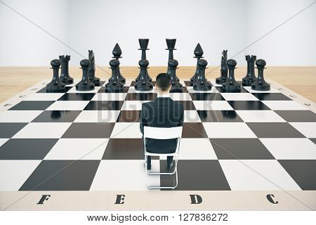 Strategy Concept Chessboard And Businessman