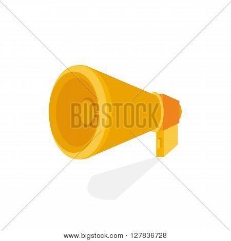 Horn icon. Mouthpiece illustration. Speaker flat design illustration. Flat design style modern vector illustration