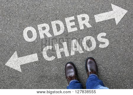 Chaos And Order Organisation In Office Businessman Business Man Concept