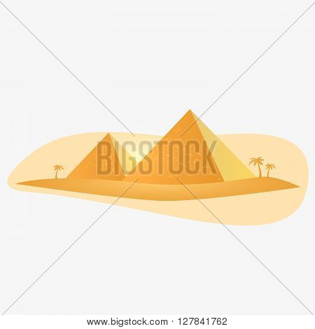 Egypt pyramid vector illustration. Giza pyramid. Pyramid icon.