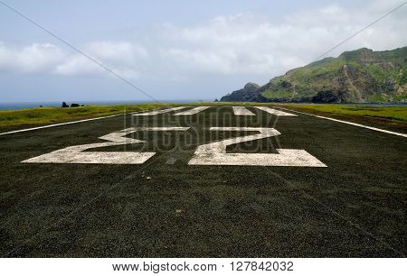 Number 23 On An Abandoned Airport Runway