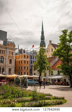 View On Riga Downtown In Latvia