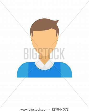 Business man icon abstract face office people vector. Abstract face people icon head symbol and abstract face graphic avatar person. Abstract face design profile team work element.
