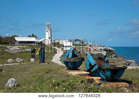 Sculpture / art garden on Punta Sur on Isla Mujeres (Island of the Women) at Cancun Mexico