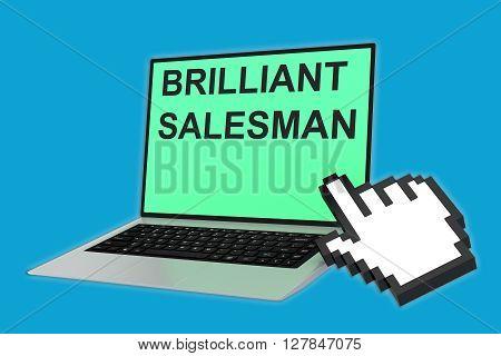 Brilliant Salesman Concept