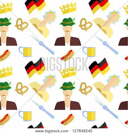 the background in the style of a flat design on the theme of germany.