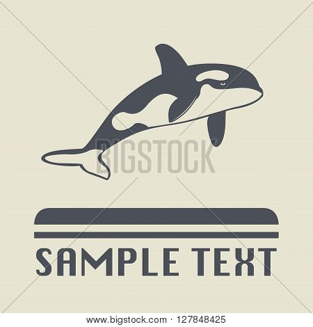 Orca whale icon or sign, vector illustration