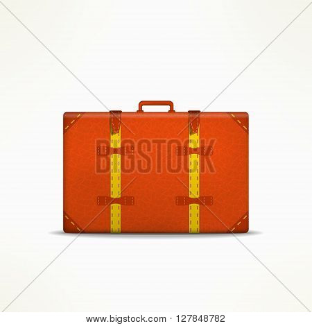 Travel case sign. Retro traveling design element. Travel case isolated. Vintage travel case icon.