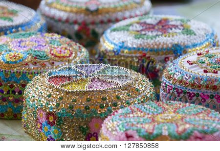 These are tataric souvenirs - traditional hats (Crimea).