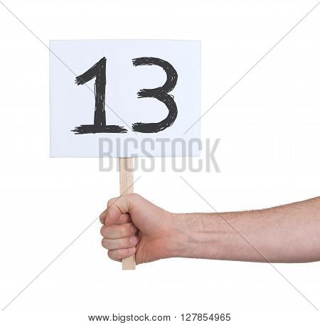 Sign With A Number, 13
