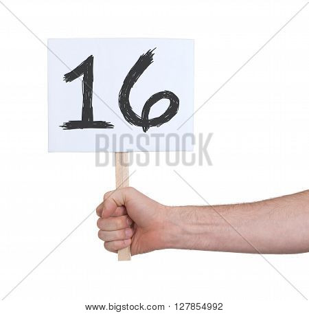 Sign With A Number, 16