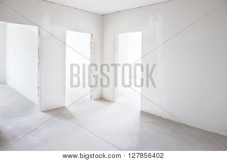White Room With Tree Entrances