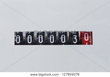 numeric display in a center of the frame