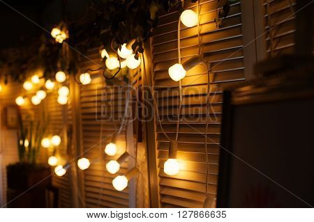 beautiful wedding decorations at night for ceremony