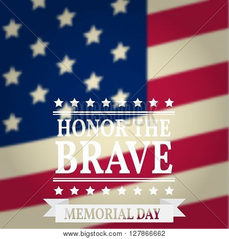 Happy Memorial Day. Memorial Day greeting card. Memorial Day Vector illustration. American Flag.