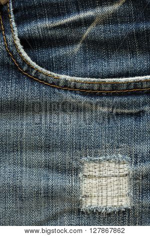 design pocket of blue jeans, clothing design