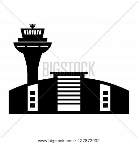 Airport building ( shade picture ) on white background